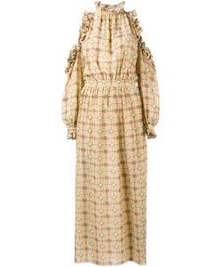 Tata Naka | Cold Shoulder Ruffle Dress 14 Silk