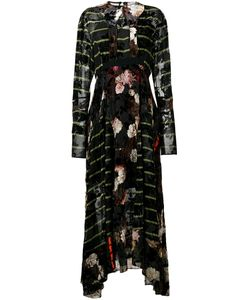 Preen By Thornton Bregazzi | Mixed Print Maxi Dress Large