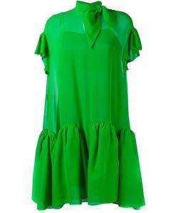 Delpozo | Flared Georgette Mini Dress 34 Silk/Polyamide/Polyester
