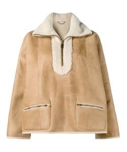Chloe | Chloé Shearling Aviator Jacket 36 Cotton/Lamb Skin/Sheep Skin/Shearling