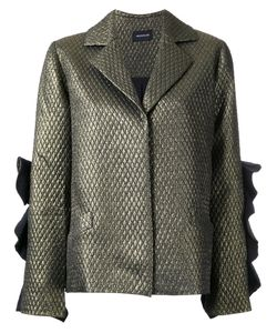 Elaidi | Ruffle Sleeve Blazer Jacket 42 Polyester/Spandex/Elastane