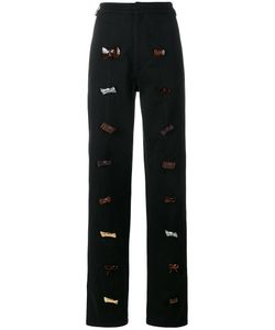 J.W. Anderson | J.W.Anderson Bow Embellished Trousers 10 Cotton/Polyurethane