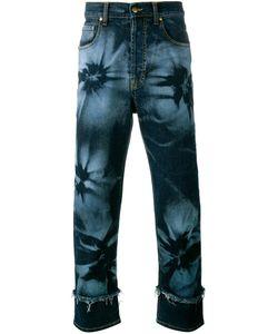 James Long | Hibiscus Print Jeans 38 Cotton/Spandex/Elastane