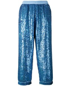 Ashish | Sequin Embellished Pants Small Cotton/Polyester/Sequin