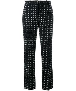 Givenchy | Printed Straight Leg Trousers 38 Silk/Spandex/Elastane/Acetate/Viscose