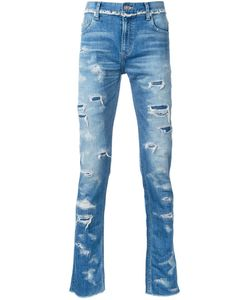 CHRISTIAN DADA | Ripped Slim-Fit Jeans 46 Cotton/Polyurethane