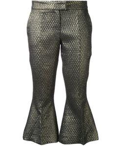 Elaidi | Cropped Trousers 44 Polyester/Spandex/Elastane