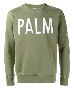 PALM ANGELS   Palm Print Sweatshirt Small Cotton