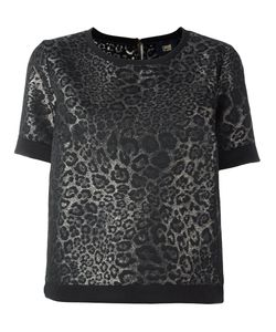 Cavalli Class | Jacquard Shortsleeved Sweatshirt 44 Cotton/Acrylic/Polyester/Other Fibers
