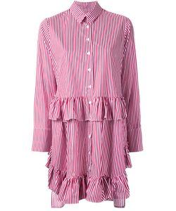Elaidi | Striped Ruffle Detail Tunic Top 38 Cotton