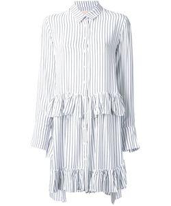 Elaidi | Striped Ruffle Detail Tunic Top 44 Polyester/Viscose