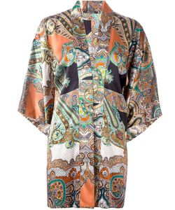 ERMANNO GALLAMINI   Abstract Print Blouse Medium Silk
