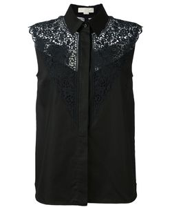 Stella Mccartney | Lace Detail Sleeveless Shirt 40 Cotton