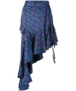 Sandy Liang | Chet Asymmetric Ruffled Skirt 38 Polyester