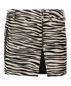 Filles A Papa   Zebra Print Mini Skirt 1