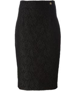 Cavalli Class | Lace Pencil Skirt 44 Polyamide/Viscose