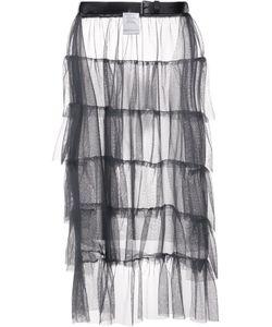AREA DI BARBARA BOLOGNA | Ruffled Sheer Skirt Polyamide