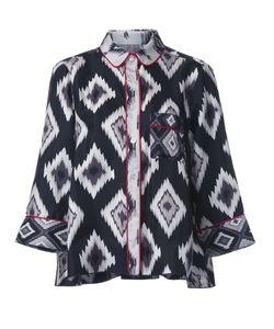 FOR RESTLESS SLEEPERS | Printed Pyjama Shirt Large Silk