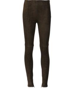 Ralph Lauren | Suede Skinny Trousers 10 Suede