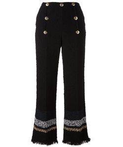 Sonia Rykiel | Striped Flared Trousers 38 Cotton/Polyamide/Polyester