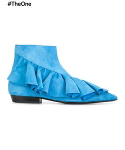 J.W. Anderson | J.W.Anderson Ruffled Detail Boots 36 Leather/Suede