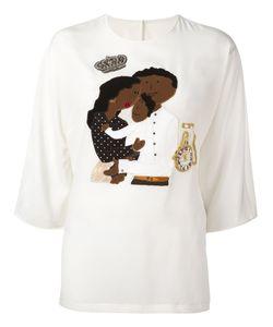 Dolce & Gabbana | Dg Family Blouse 38 Silk/Spandex/Elastane
