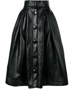 A.W.A.K.E | Belted Full Skirt 36 Cotton/Polyurethane