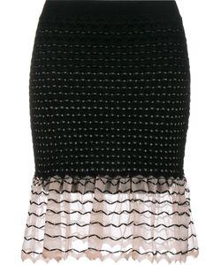 Alexander McQueen | Ruffled Knit Skirt Xl Silk/Polyamide/Polyester/Viscose