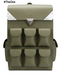 VALAS | Multiple Pockets Backpack Leather