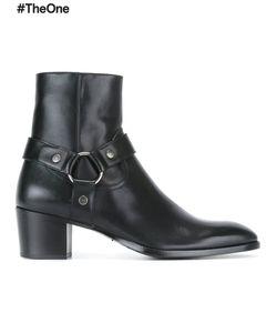 Saint Laurent   Wyatt Ankle Boots 44 Calf Leather/Leather