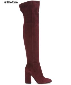 Gianvito Rossi | Rolling High Thigh Boots 41 Leather/Suede