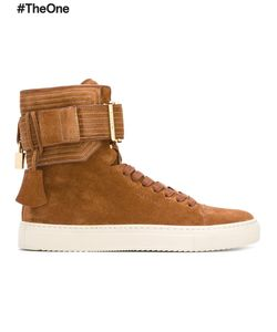 Buscemi | Ankle Strap Hi-Top Sneakers 8 Leather/Suede/Rubber