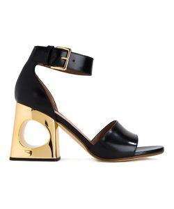 Marni | Block Heel Sandals 38 Calf Leather