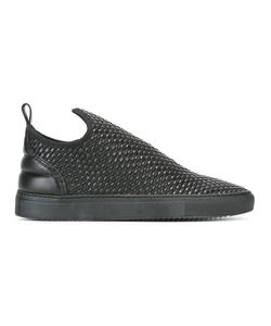 Filling Pieces | Woven Slip-On Sneakers 40 Leather/Rubber