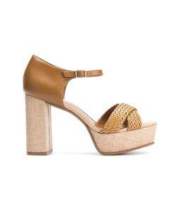Sarah Chofakian | Chunky Heel Sandals 37 Goat Skin