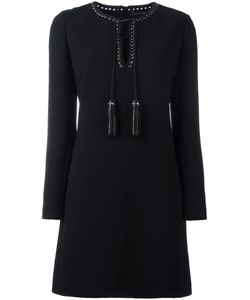 Barbara Bui | Leather Detailing Longsleeved Dress 40 Polyester
