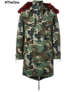 OFF-WHITE | Camouflage Parka Large Cotton/Acrylic/Polyester