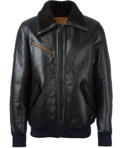 Golden Goose | Deluxe Brand Leather Bomber Jacket Small