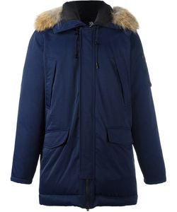 Kenzo | Raccoon Fur Trim Puffer Coat Xl Feather