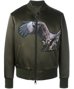 Neil Barrett | Eagle Print Bomber Jacket Large Polyamide/Polyester/Acetate/Viscose