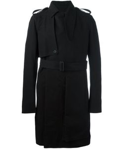 Rick Owens | Belted Trench Coat 52 Cotton/Cupro/Viscose