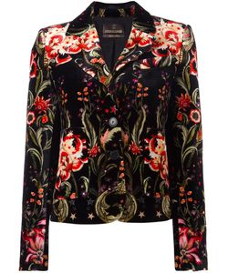 Roberto Cavalli | Velvet Blazer 50 Silk/Viscose
