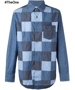 GANRYU COMME DES GARCONS | Patchwork Denim Shirt Medium