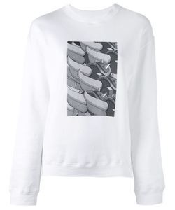 Julien David | Print Detail Sweatshirt Medium Cotton