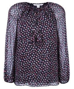 Diane Von Furstenberg | Dotted Print Blouse 14 Silk/Polyester