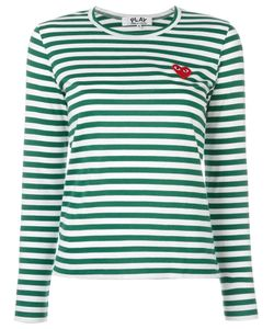 Comme des Gar ons Play | Comme Des Garçons Play Striped Longsleeved T-Shirt Womens Size Large