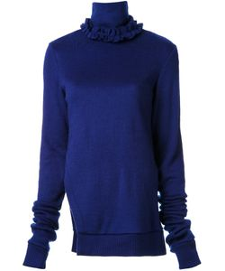 MURRAL | Ruffled Neck Asymmetric Sweater Acrylic
