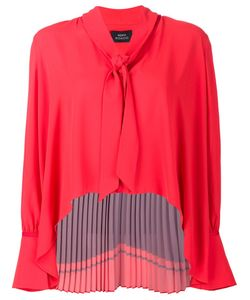 Misha Nonoo | Camille Back Pleat Blouse Large Polyester
