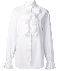 Ralph Lauren | Ruffled Detail Shirt 6 Cotton