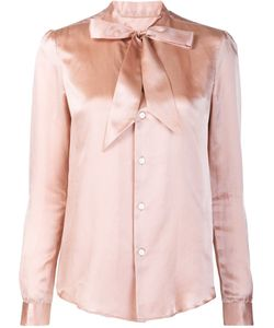 Julien David | Bow Detail Shirt Small Silk/Cotton